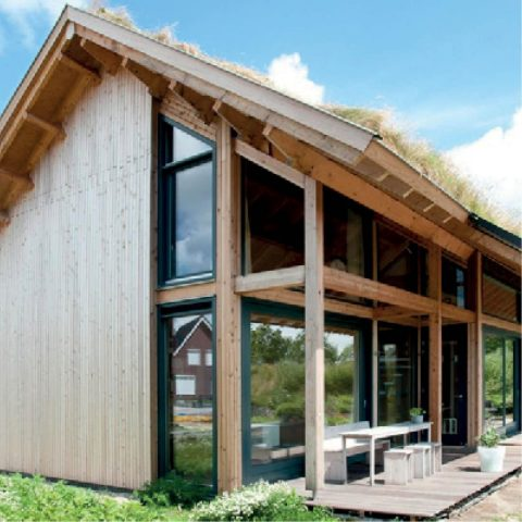 Opgeleverde woning van hout